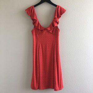 Urban Outfitters Red Ruffle Mini Dress
